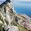 Gibraltar Rock And Mediterranean Sea by Artur Bogacki