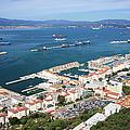 Gibraltar Town And Bay by Artur Bogacki