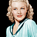 Ginger Rogers In Rko Publicity by Everett