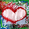 Gingham Crazy Heart by Genevieve Esson