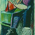 Girl In A Restaurant by David Martin