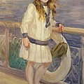 Girl In A Sailor Suit by Charles Sims