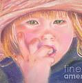 Girl In Straw Hat by Julie Brugh Riffey