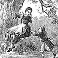 Girl On Swing, 1873 by Granger