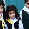 Girl Scouts At Orthodox Christmas Celebration by Munir Alawi