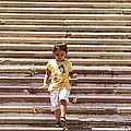 Girl Walking Down Steps Of Guanajuato University