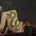 Girl With A Dragon Tattoo 4 by Kris Hanke
