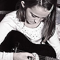 Girl With A Guitar  by Susan Leggett