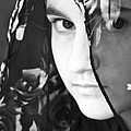 Girl With A Rose Veil 3 Bw by Angelina Vick