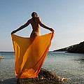 Girl With The Orange Veil by Manolis Tsantakis