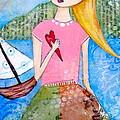 Girl With The White Boat by Denise Rivkin