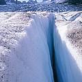Glacier Crevasse, Canada by David Nunuk