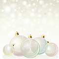 Glass Baubles Pastel by Jane Rix