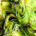 Glass Macro Yellow And Greens II by David Patterson