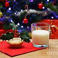 Glass Of Milk And A Mince Pie For Santa by Richard Thomas