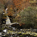Glen Lyon Falls And Pack Bridge Scotland by George Hodlin