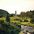 Glendalough Stream And Tower by Douglas Barnett