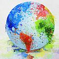 Globe Painting by Setsiri Silapasuwanchai