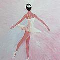 Glowing Ballerina Original Palette Knife  by Georgeta  Blanaru