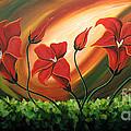 Glowing Flowers 4 by Uma Devi
