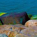 Goa Sea Front Rocks by Naresh Ladhu