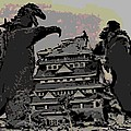 Godzilla And King Kong Hanging Out In Tokyo by George Pedro