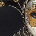 Gold Carnival Mask by Patty Vicknair