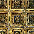 Gold Cathedral Ceiling Italy by Mike Nellums