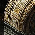 Gold Inlay Arches St. Peter's Basillica by Mike Nellums