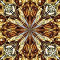 Gold Medallion 5 by Susan Smith
