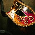 Gold Scroll Masquerade Mask by Faith Gauthier