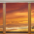 Golden Country Sunrise Window View by James BO  Insogna