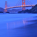 Golden Gate At Dusk Portrait by Kim Frank