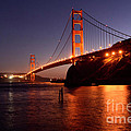 Golden Gate Bridge At Night 2 by Bob Christopher