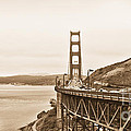 Golden Gate Bridge In Sepia by Betty LaRue