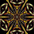 Golden Kaleidoscope by Maria Urso