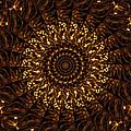 Golden Mandala 3 by Rhonda Barrett