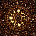 Golden Mandala 6 by Rhonda Barrett