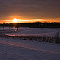 Golden Orange Winter Sunset Over The Golf by LeeAnn McLaneGoetz McLaneGoetzStudioLLCcom