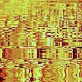 Golden Ripples Abstract by Nick Kloepping