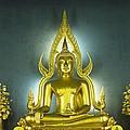 Golden Sitting Buddha by Gloria and Richard Maschmeyer