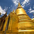 Golden Stupa In Grand Palace Bangkok by Charuhas Images
