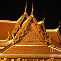 Golden Wat Temple Thailand by Bob Christopher