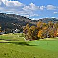 Golf Course In Autumn by Susan Leggett