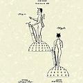 Golf Devil Paperweight 1927 Patent Art by Prior Art Design
