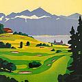 Golfing In Lausanne by Georgia Fowler