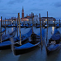 Gondolas At Dusk In Venice by Ayhan Altun