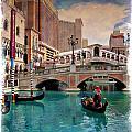 Gondolas On The Canal - Impressions by Ricky Barnard