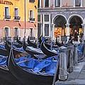 Gondolas On The Canal by Jill Baker