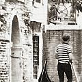 Gondolier 1 Sepia by Vicki Hone Smith